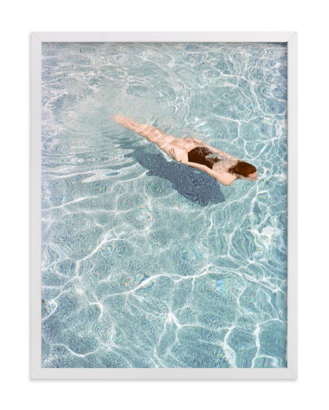 This is a blue art by Whitney Deal called Going for a Swim with standard.