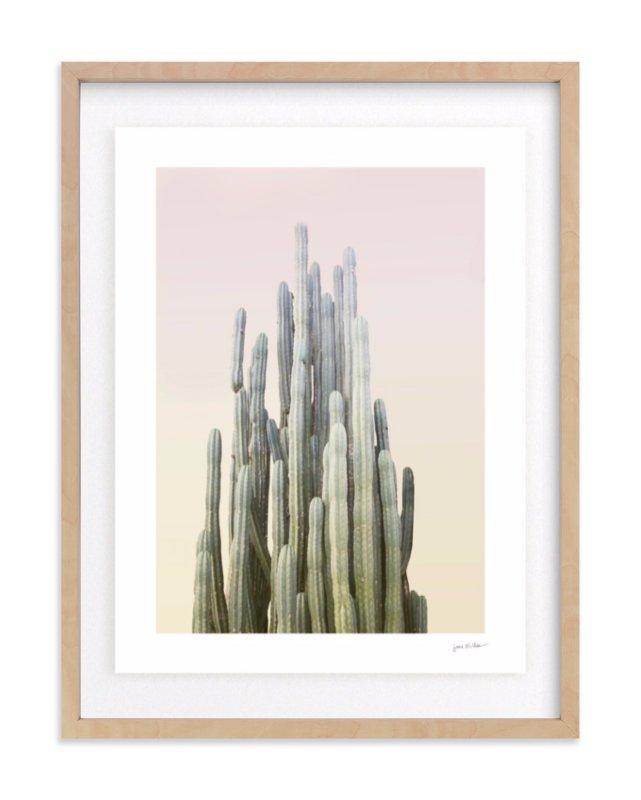 Summer Yellow Cactus Art Print