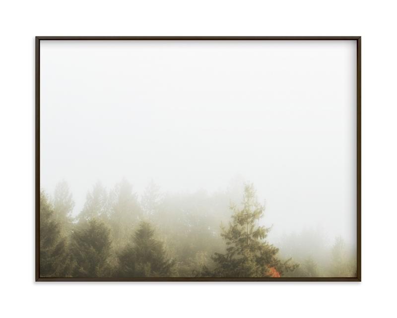 Foggy Autumn Forest Morning Art Print