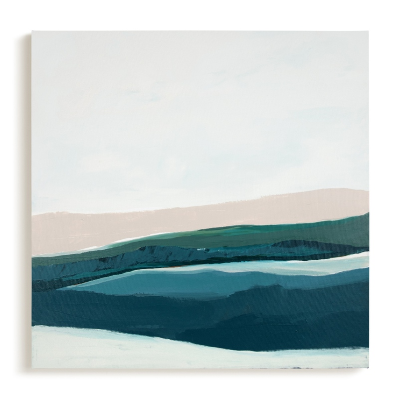 Seascape at Dusk Art Print