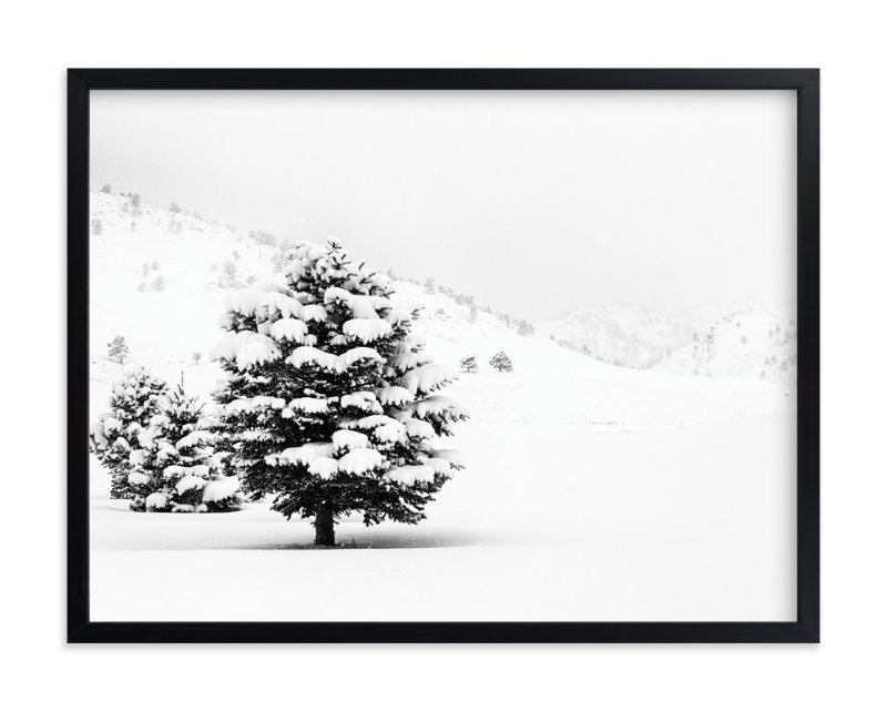 """Tranquil Snow II"" - Limited Edition Art Print by Gabrial Reising in beautiful frame options and a variety of sizes."