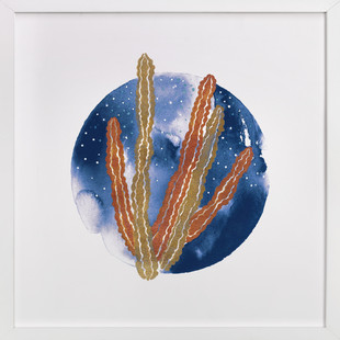 Nocturnal Cacti Art Print