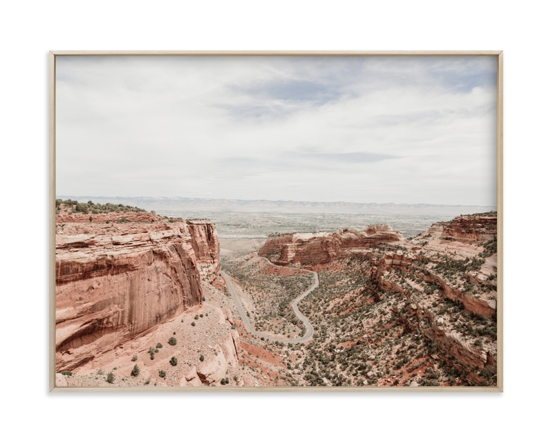 """Desert Horizon"" - Limited Edition Art Print by Jamie Lollback in beautiful frame options and a variety of sizes."