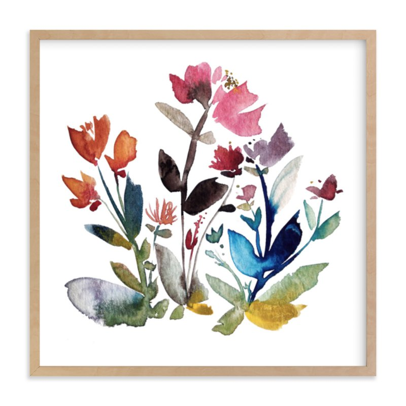 """island wildflowers no.3"" - Limited Edition Art Print by Kiana Mosley in beautiful frame options and a variety of sizes."