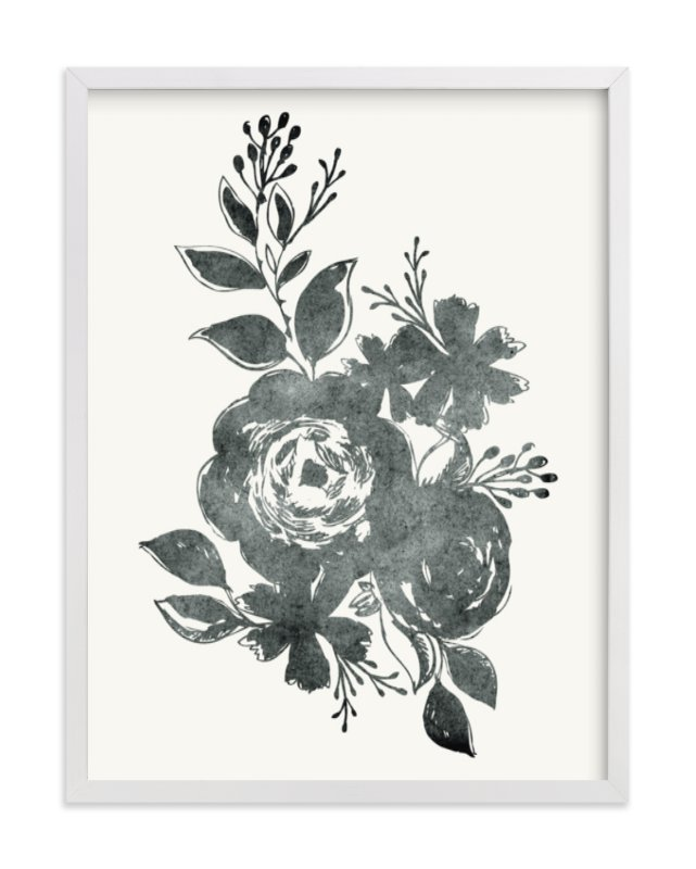 """""""Dark Florals no. 1"""" - Limited Edition Art Print by Alethea and Ruth in beautiful frame options and a variety of sizes."""