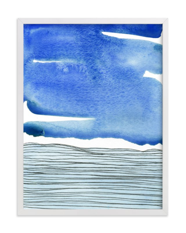 """""""Out To Sea I"""" - Limited Edition Art Print by Chelsey Scott in beautiful frame options and a variety of sizes."""