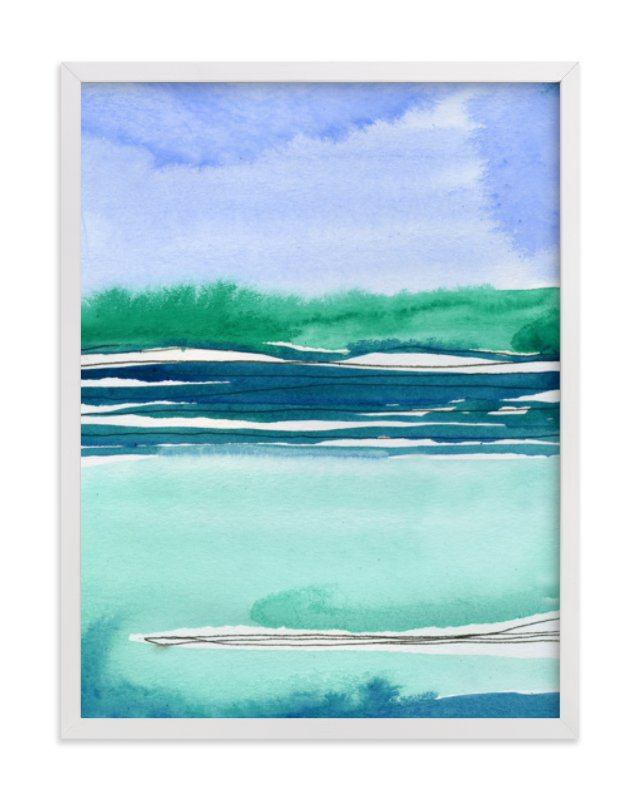 """Out To Sea II"" - Limited Edition Art Print by Chelsey Scott in beautiful frame options and a variety of sizes."
