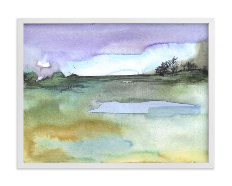 """""""Lavender Sky"""" - Limited Edition Art Print by Sonal Nathwani in beautiful frame options and a variety of sizes."""