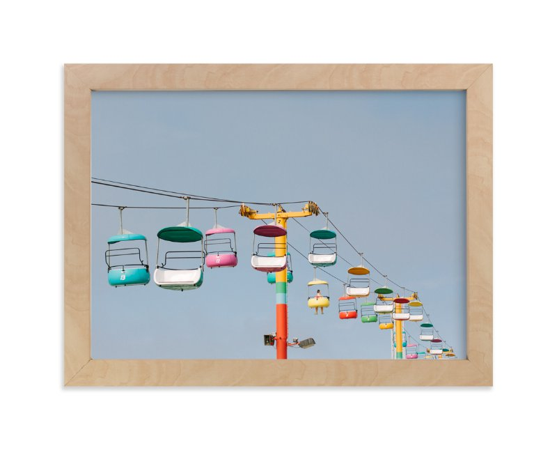 """Boardwalk Brights"" - Limited Edition Art Print by Janel Galvez in beautiful frame options and a variety of sizes."