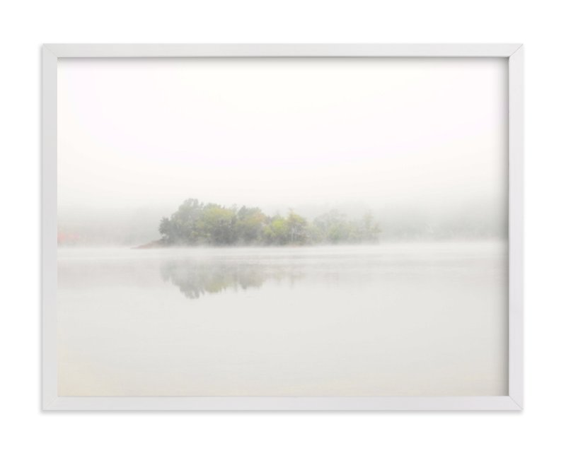 This is a white art by S.L. Bird called The Island.