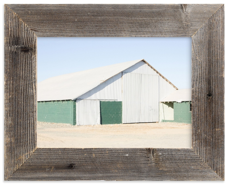 """Green Barn"" - Limited Edition Art Print by Alex Elko Design in beautiful frame options and a variety of sizes."