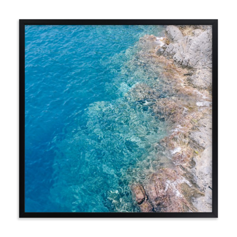 """""""Turquoise II"""" - Limited Edition Art Print by lulu and isabelle in beautiful frame options and a variety of sizes."""