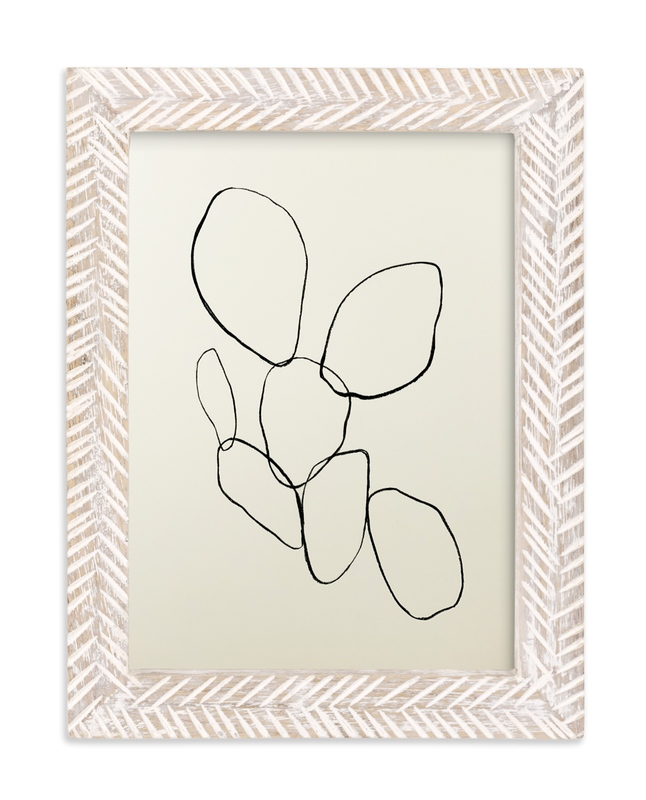 """Cactus Line Drawing"" - Limited Edition Art Print by Amanda Phelps in beautiful frame options and a variety of sizes."
