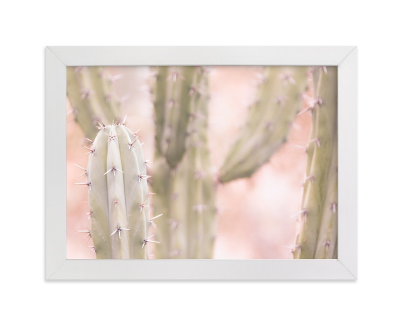 """""""Pink Cactus 1"""" - Limited Edition Art Print by Lisa Sundin in beautiful frame options and a variety of sizes."""