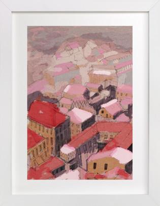 Painted Venice cityscape Art Print