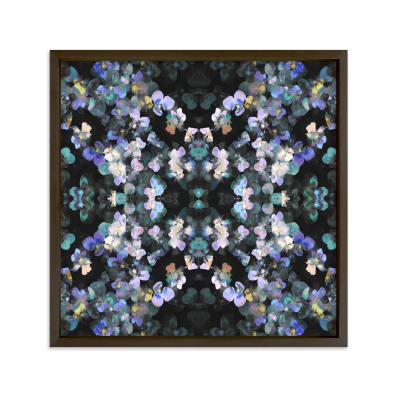 """""""Pansy painting - mirrored"""" - Limited Edition Art Print by Oana Prints in beautiful frame options and a variety of sizes."""