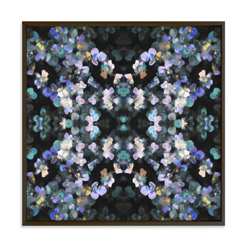 """Pansy painting - mirrored"" - Limited Edition Art Print by Oana Prints in beautiful frame options and a variety of sizes."