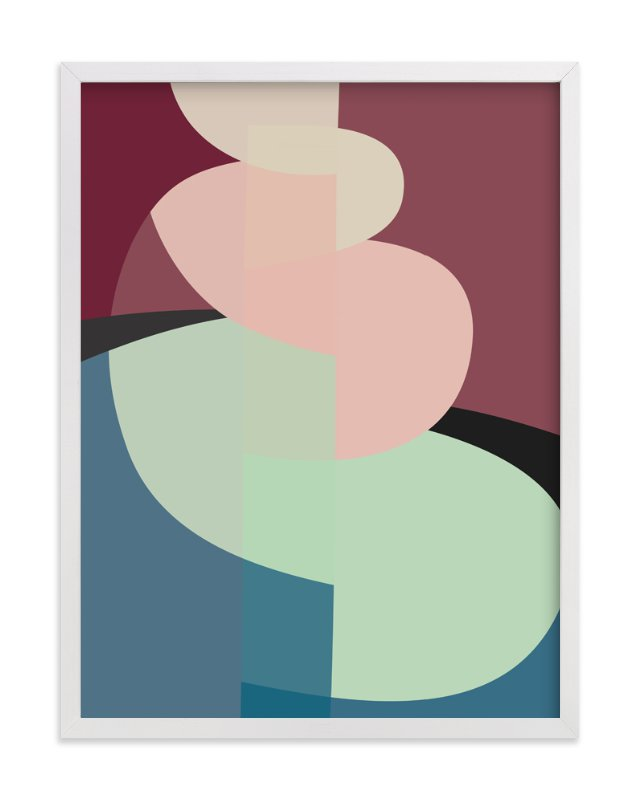 This is a pink art by Christina Flowers called The Climb.