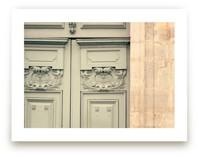 Mint Parisian Door by Caroline Mint