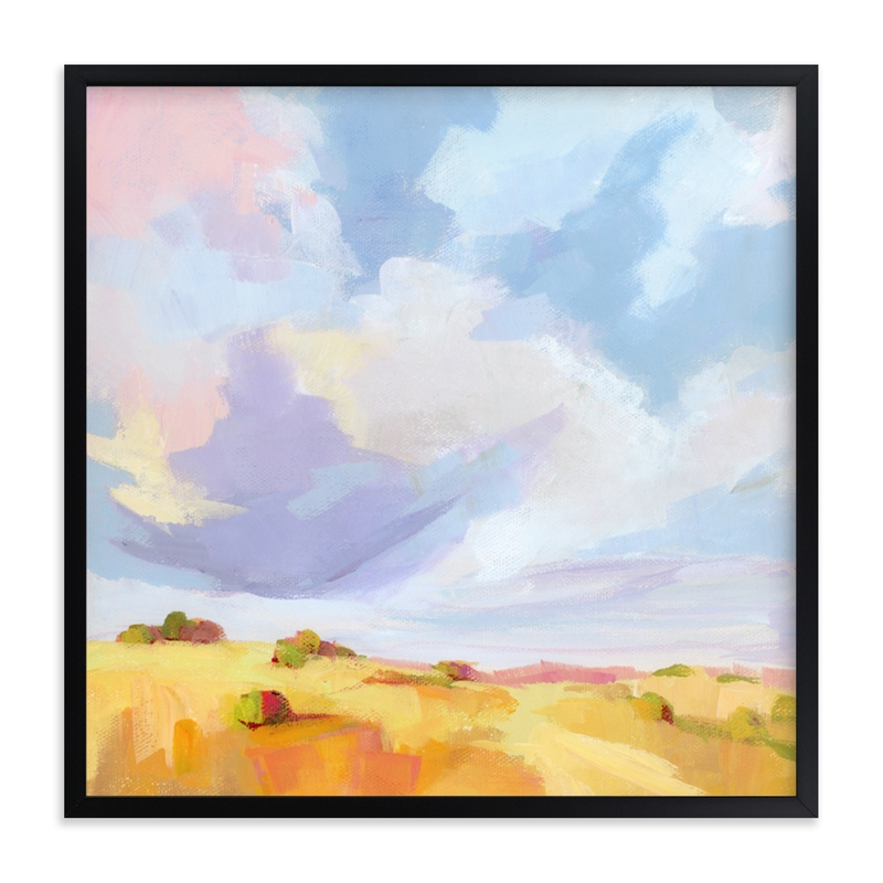 """Leaving New Mexico"" - Limited Edition Art Print by sue prue in beautiful frame options and a variety of sizes."