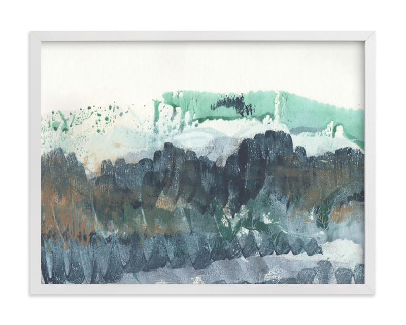 """Scape of the Land "" - Limited Edition Art Print by Jennifer Daily in beautiful frame options and a variety of sizes."