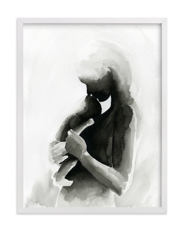 """Every Mother Counts Mother and Baby"" - Limited Edition Art Print by Kate Ahn in beautiful frame options and a variety of sizes."