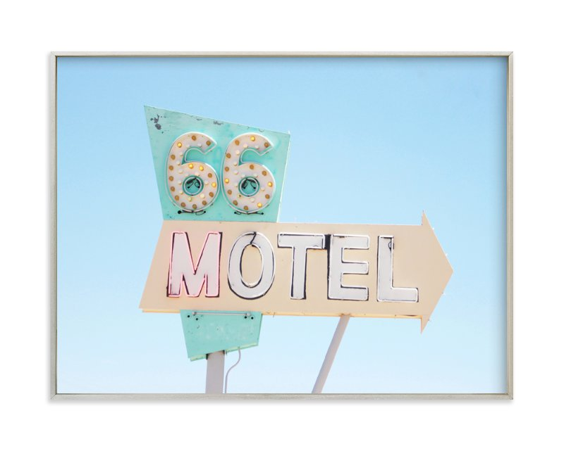 """Route 66"" - Limited Edition Art Print by Land Collioure Le Coq in beautiful frame options and a variety of sizes."