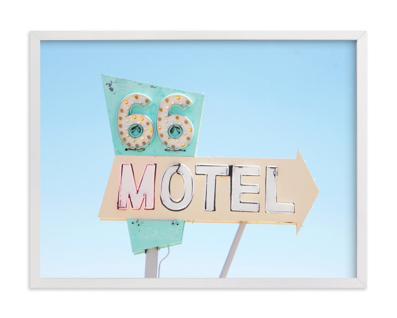 """""""Route 66"""" - Limited Edition Art Print by Land Collioure Le Coq in beautiful frame options and a variety of sizes."""