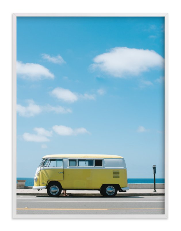 """Yellow Van II"" - Limited Edition Art Print by Jennifer Little in beautiful frame options and a variety of sizes."