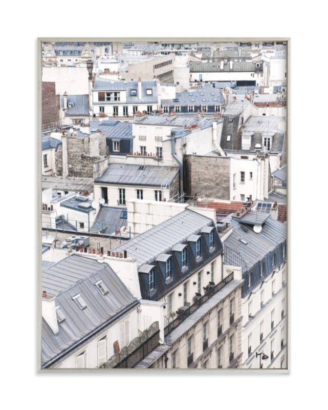 """Dancing Rooftops"" - Limited Edition Art Print by Anna Argiropoulos in beautiful frame options and a variety of sizes."