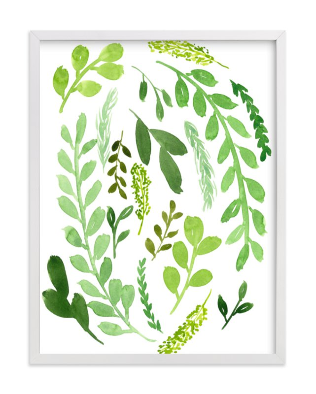 """""""Leaves of Green"""" - Limited Edition Art Print by Katie Vander Velde in beautiful frame options and a variety of sizes."""