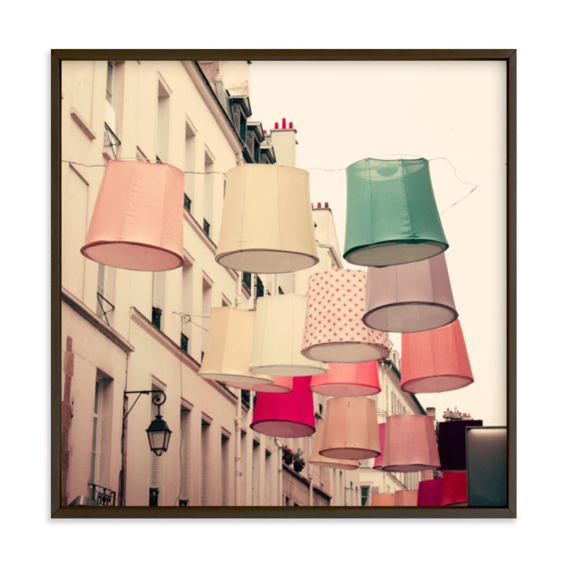 """""""Color in Paris"""" - Limited Edition Art Print by Caroline Mint in beautiful frame options and a variety of sizes."""