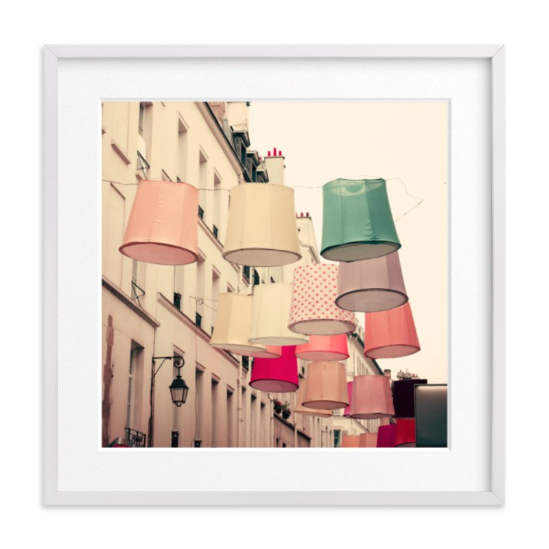 """Color in Paris"" - Limited Edition Art Print by Caroline Mint in beautiful frame options and a variety of sizes. #parisart #pinkart #photographyprint"
