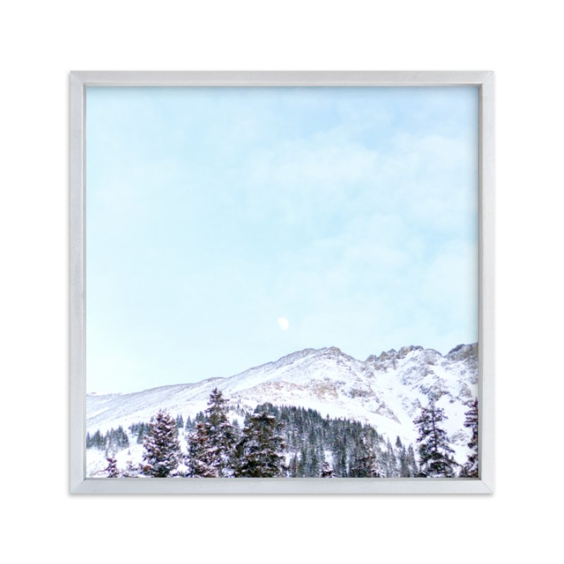 """Mountains by Moonlight"" - Limited Edition Art Print by Jamie Lollback in beautiful frame options and a variety of sizes."