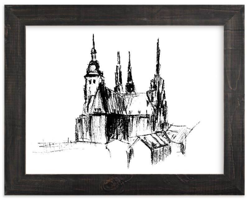 """""""Prague"""" - Limited Edition Art Print by Anastasia Makarova in beautiful frame options and a variety of sizes."""
