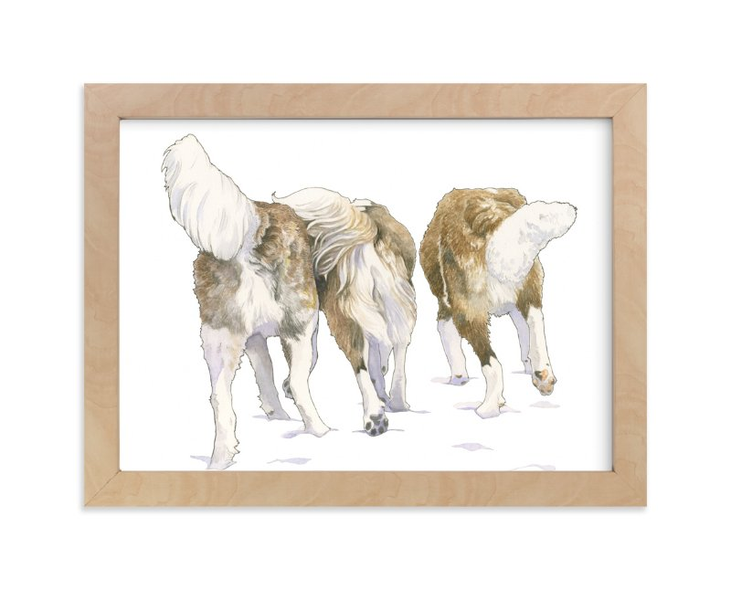 """Fluffy Buns"" - Limited Edition Art Print by Natalie Groves in beautiful frame options and a variety of sizes."