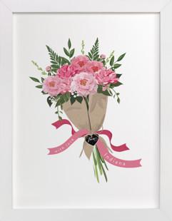 Indiana Peony Bouquet Art Print
