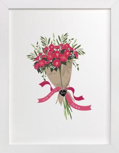Iowa Wild Rose Bouquet Art Print
