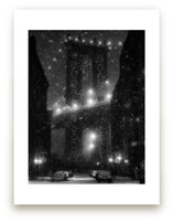 Manhattan Bridge Snowst... by Jason Derck