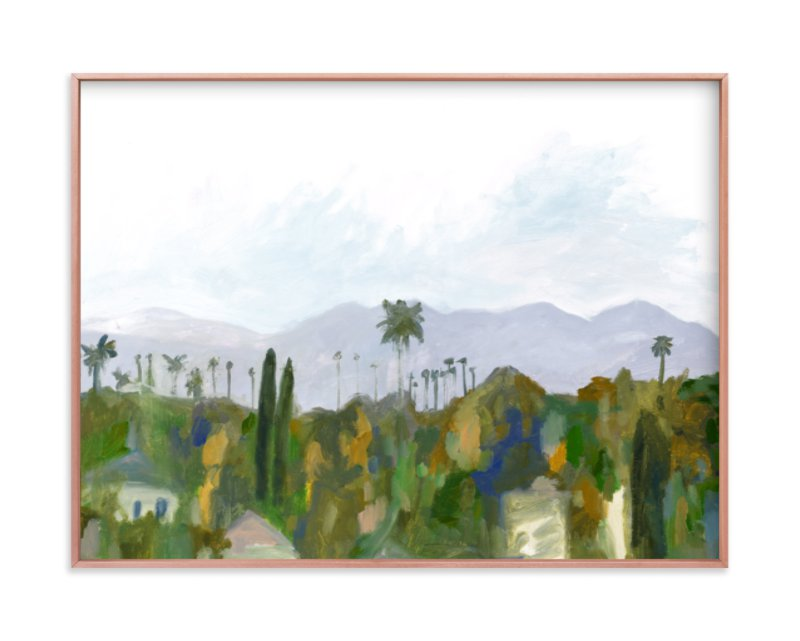 """""""Los Angeles landscape"""" - Limited Edition Art Print by Kelly Witmer in beautiful frame options and a variety of sizes."""
