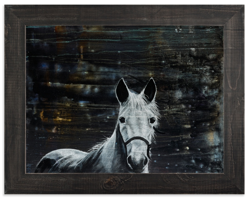 """The White Horse"" - Limited Edition Art Print by Charée Balm in beautiful frame options and a variety of sizes."