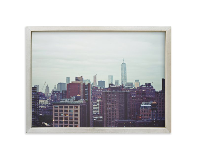 """""""Rainy Day in the City"""" - Limited Edition Art Print by Sara Heilwagen in beautiful frame options and a variety of sizes."""