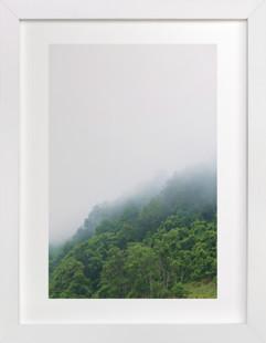 Foggy mountain Art Print