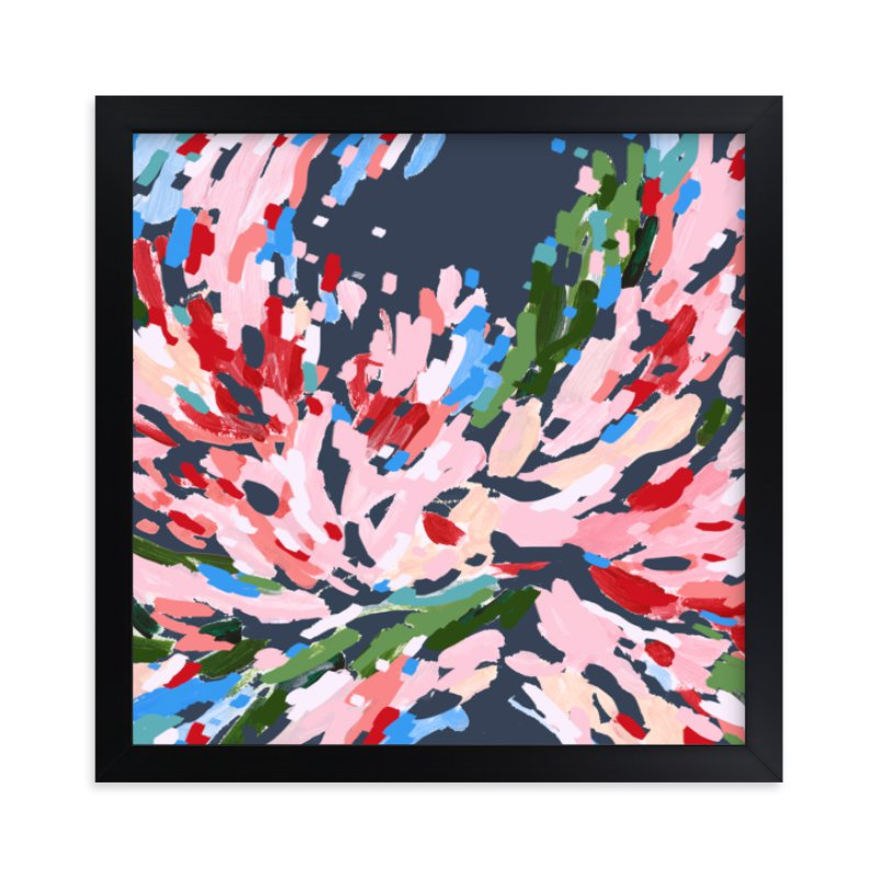 """Red Floral No.2"" - Limited Edition Art Print by Katie Craig in beautiful frame options and a variety of sizes."