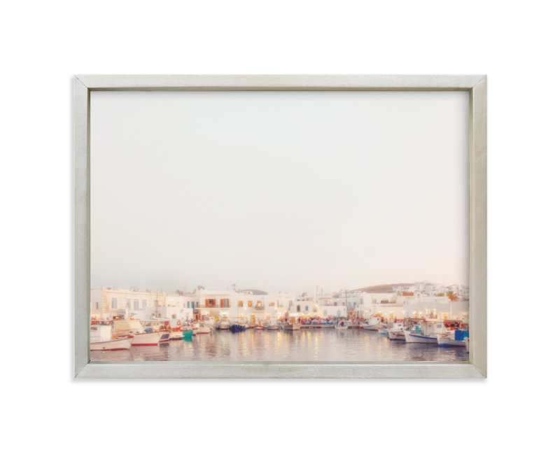 """Evening in Greece"" - Limited Edition Art Print by Gabrial Reising in beautiful frame options and a variety of sizes."