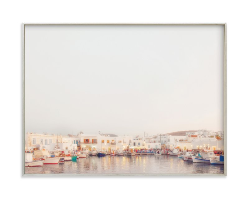 """""""Evening in Greece"""" - Limited Edition Art Print by Gabrial Reising in beautiful frame options and a variety of sizes."""