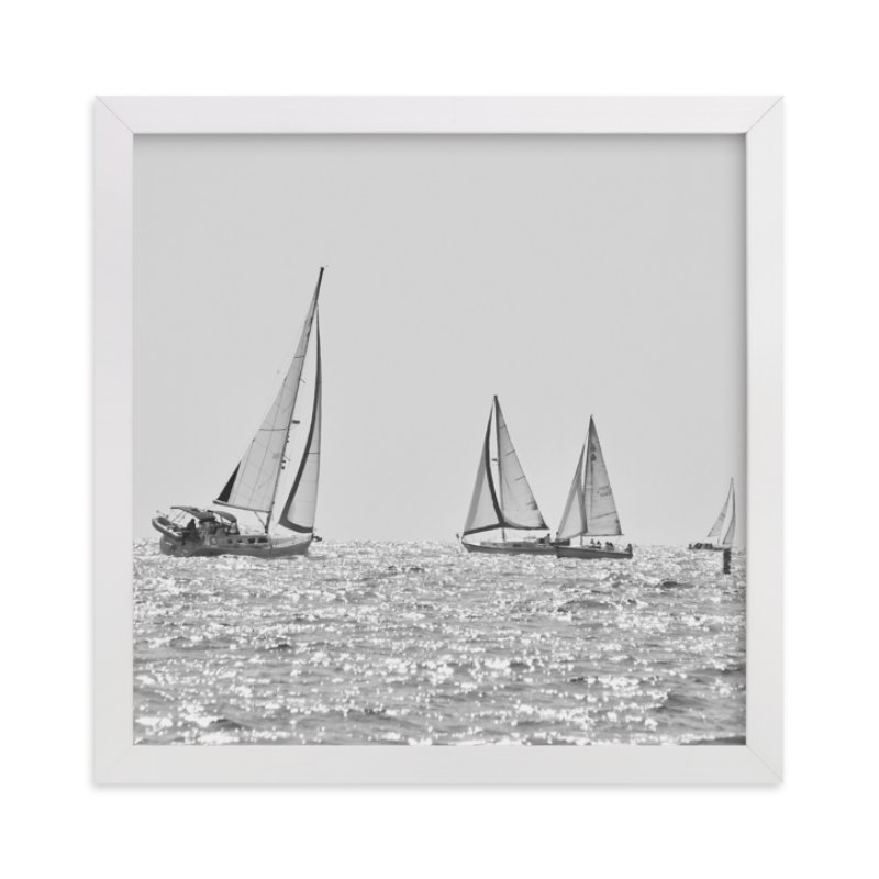 """Four Sails"" - Limited Edition Art Print by Jan Kessel in beautiful frame options and a variety of sizes."