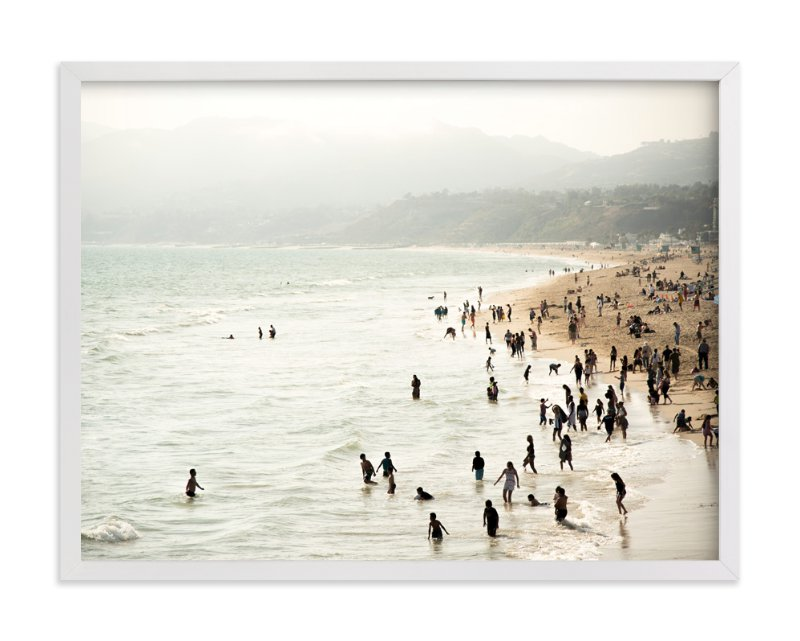 """""""Seaside Contrast"""" - Limited Edition Art Print by Emmy Hagen in beautiful frame options and a variety of sizes."""