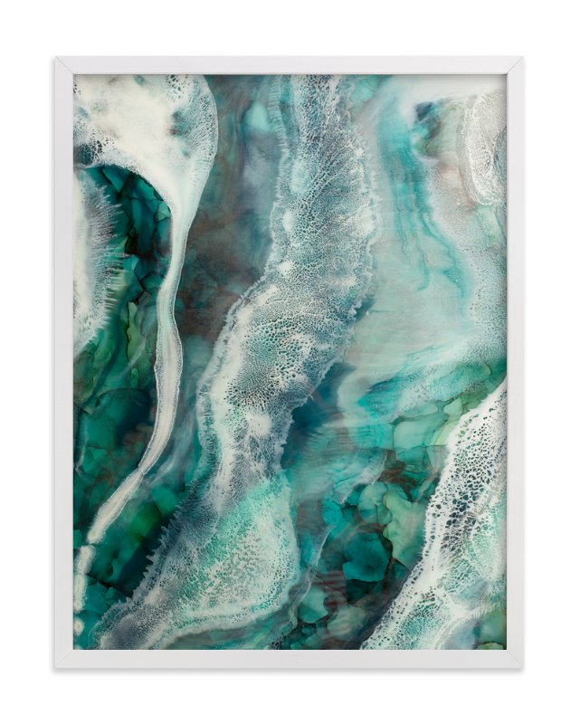 """""""Flow Through Me"""" - Limited Edition Art Print by Debi Perkins in beautiful frame options and a variety of sizes."""
