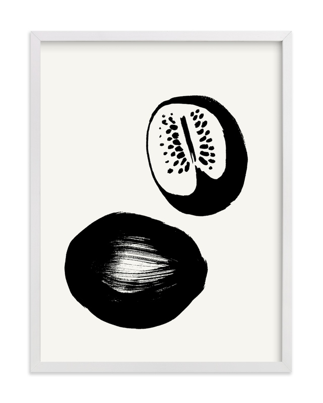 This is a black and white art by Sonya Percival called Watermelons with standard.